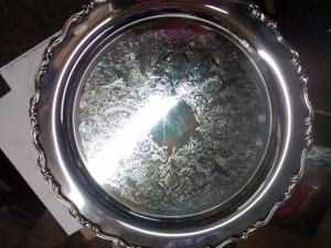 Ornate Heavy Silver Platter