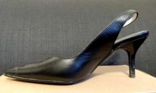 Steve Madden Work Business Pleating Slingback Black Pumps