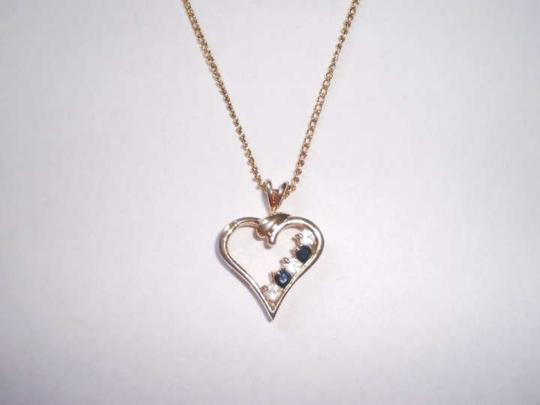 Other vintage heart w/crystals necklace