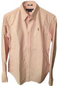 Ralph Lauren Polo Classic Oxford Oxford Oxford Polo Button Down Shirt Pink