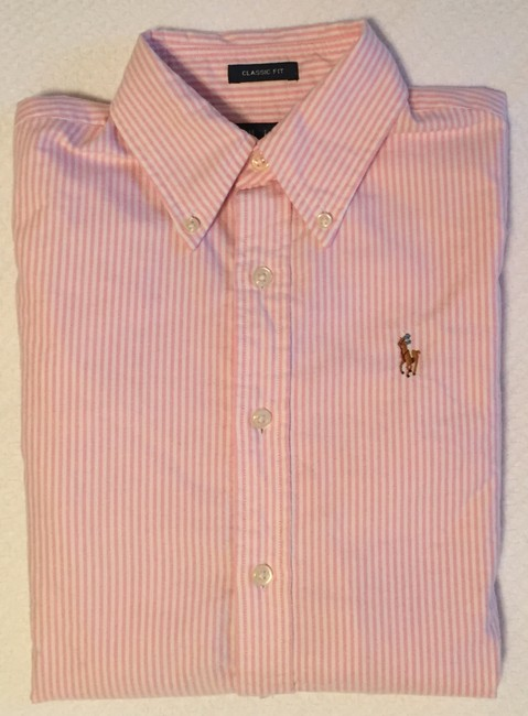 Ralph Lauren Polo Classic Oxford Oxford Oxford Polo Button Down Shirt Pink Image 2