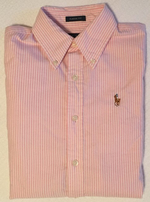 Ralph Lauren Polo Classic Oxford Oxford Oxford Polo Button Down Shirt Pink Image 3
