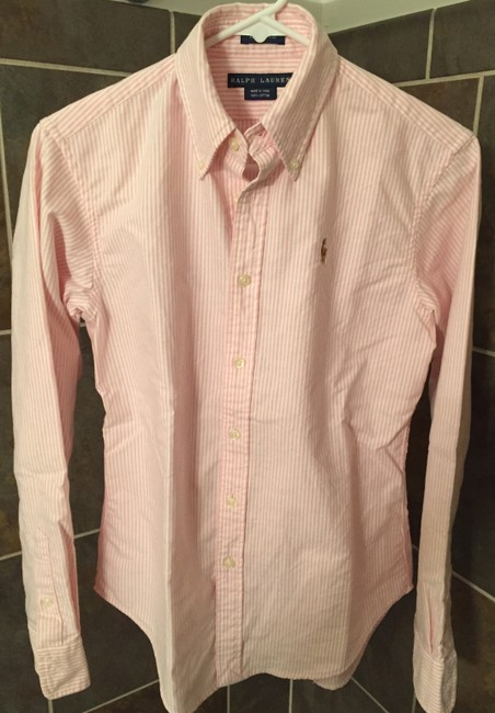 Ralph Lauren Polo Classic Oxford Oxford Oxford Polo Button Down Shirt Pink Image 4