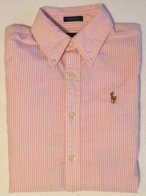 Ralph Lauren Polo Classic Oxford Oxford Oxford Polo Button Down Shirt Pink Image 5