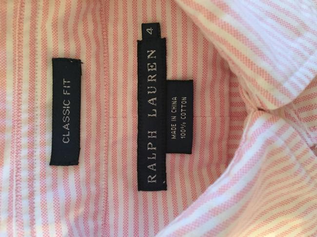 Ralph Lauren Polo Classic Oxford Oxford Oxford Polo Button Down Shirt Pink Image 7