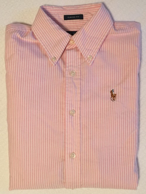Ralph Lauren Polo Classic Oxford Oxford Oxford Polo Button Down Shirt Pink Image 8