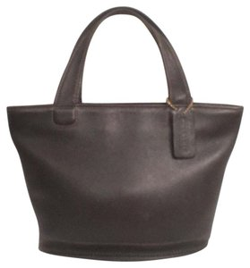 Coach Leather Satchel Vintage Tote in Black