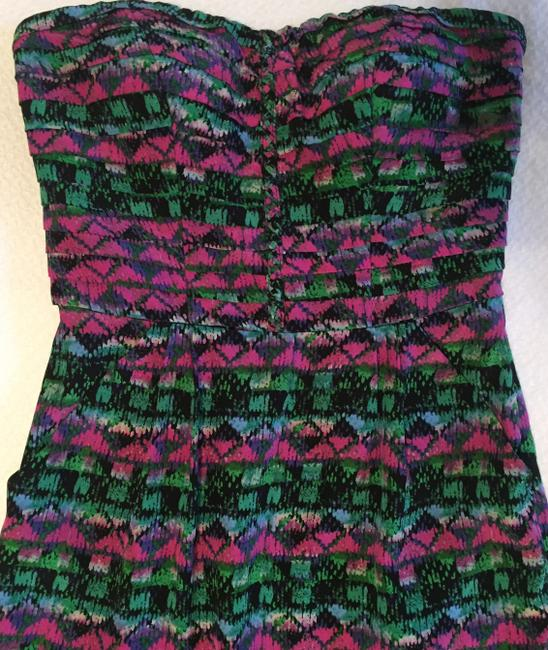 Charlie jade Party Silk Strapless Printed Cocktail Dress Image 1