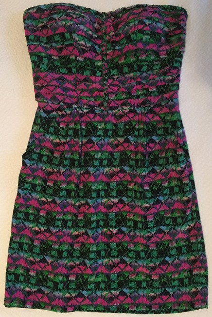 Charlie jade Party Silk Strapless Printed Cocktail Dress Image 5