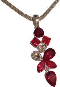 Handmade REDUCED PRICE-Red Gems Pendant