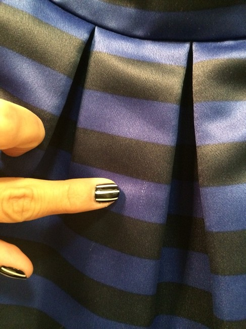 Alice + Olivia Skirt Black/Navy Blue