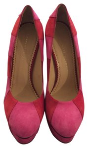 Charlotte Olympia Pink/Red Platforms