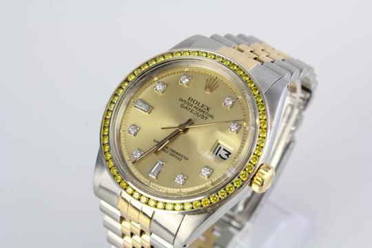 Rolex Two Tone Datejust Diamond Dial 14kt Yellow Gold Watch