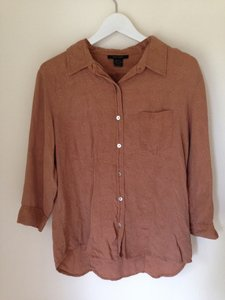 Anne Carson Paisley Paisleyblouse Silkblouse Silk Cowgirl Vintage Shirt Buttonup Top brown