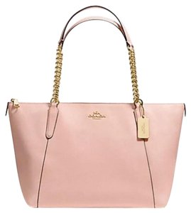 Coach Leather Zip Tote in Peach Rose