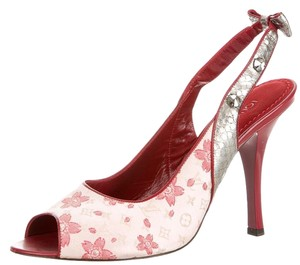 Louis Vuitton Lv Monogram Crystal Red, Pink, Silver Pumps