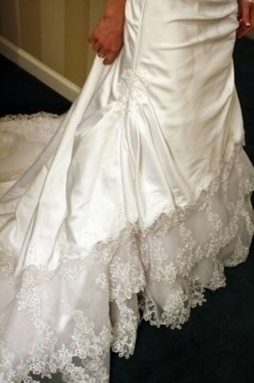 David's Bridal White 7t9466 Traditional Wedding Dress Size 0 (XS)