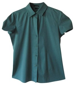 Theory Button Down Shirt Green