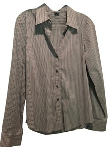 Theory Striped Striped Button Down Shirt Grey