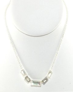 Ippolita Ippolita Necklace Mother of Pearl Diamond Sterling Silver Station Stella Stone