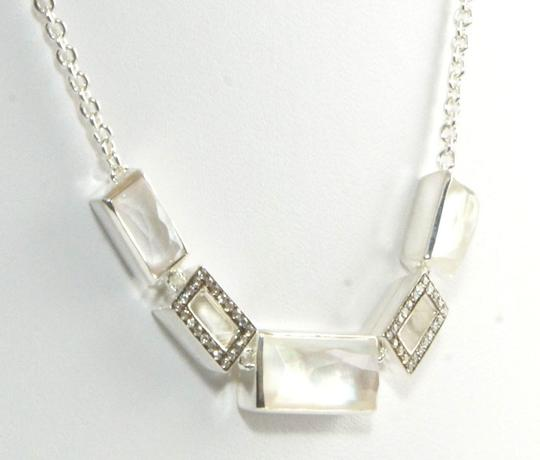 Ippolita Ippolita Necklace Mother of Pearl Diamond Sterling Silver Station Stella Stone Image 1