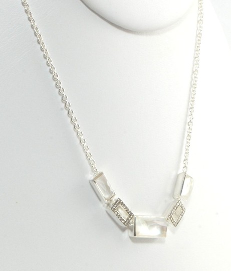 Ippolita Ippolita Necklace Mother of Pearl Diamond Sterling Silver Station Stella Stone Image 2