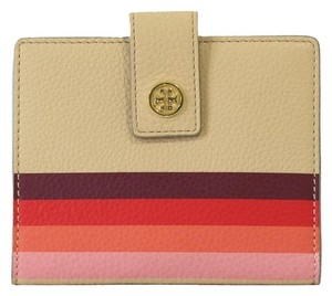 Tory Burch NWT Multicolor Wallet Passport-Holder Leather Vachetta W/Gift Receipt