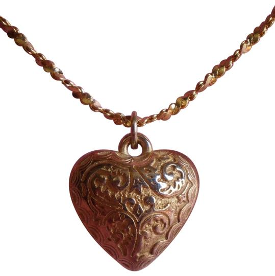 Preload https://item2.tradesy.com/images/vintage-puffy-heart-necklace-156831-0-1.jpg?width=440&height=440