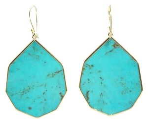 Ippolita IPPOLITA 18K Gold Polished Rock Candy Large Pointed Turquoise Teardrop Earring