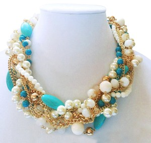 Pearl (Faux) & Bead Necklace & Earring Set