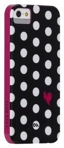 Case-Mate Case-Mate Hardshell Studio Black & White Polka Dot iPhone 5/5S