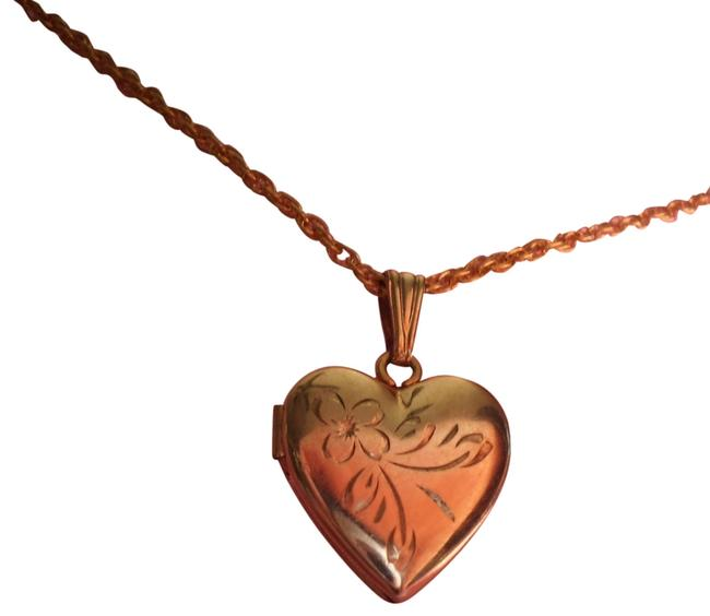 Item - Gold Overlay Heart Locket Necklace