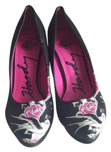 Ed Hardy Black/Multi Pumps