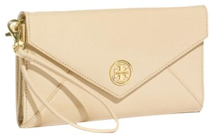 Tory Burch Envelope Beige Clutch