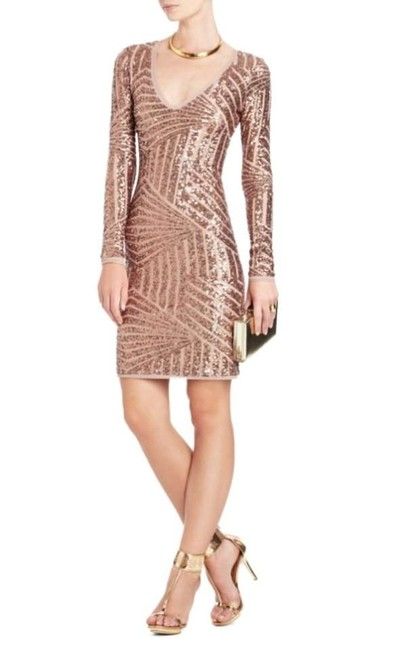 Preload https://img-static.tradesy.com/item/156838/bcbgmaxazria-rose-gold-combo-morris-sequined-above-knee-night-out-dress-size-4-s-0-0-650-650.jpg