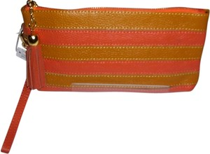 Unknown New Leather Wristlet in stripe