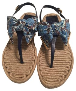 Tory Burch Navy print Sandals