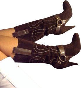 Casadei brown and gold Boots