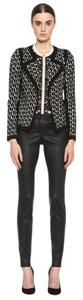 Diane von Furstenberg Leather Skinny Pants black