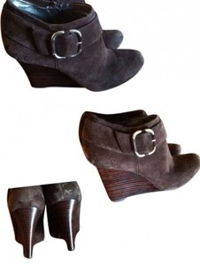 Banana Republic Dark Brown Suede booties Boots
