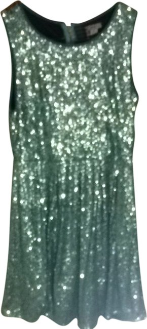 Item - Teal Sequin Night Out Dress Size 12 (L)