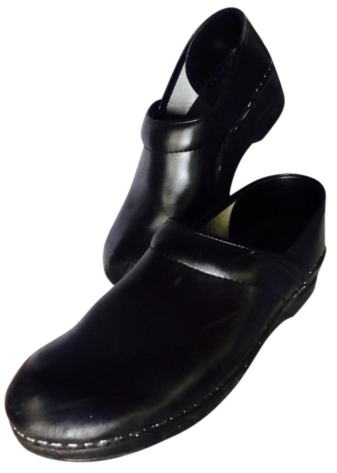 WOMEN Dansko Black Leather and Mules/Slides Elegant and Leather solemn 836050