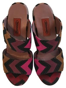 Missoni Boho Platform 70's Multicolor black, pink, purple, beige Platforms