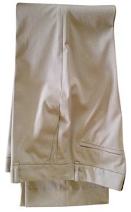 Ann Taylor No Wrinkle Fabric Boot Cut Pants tan