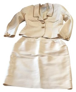 Chanel Cream Chain Jacket and Skirt Set