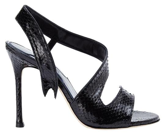 Preload https://img-static.tradesy.com/item/15684919/chelsea-paris-black-new-made-in-italy-genuine-snakeskin-leather-sandals-size-us-85-0-3-540-540.jpg