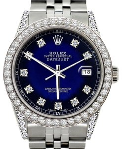 Rolex ROLEX MEN'S DATEJUST 5CT DIAMOND WATCH ROLEX BOX & APPRAISAL