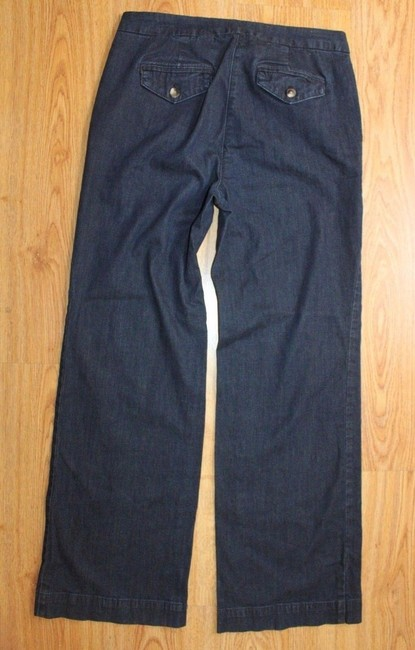 Liz Claiborne Denim Trouser Pants BLUE Image 2