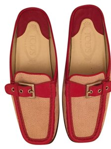 Tod's Red and white Flats