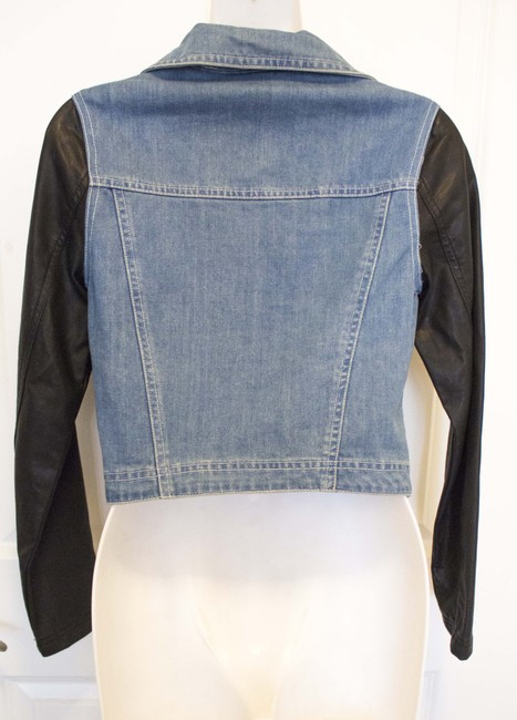 Epique Moi Faux Leather Leater Denim Motorcycle Grunge Punk Hipster Hip Trendy Fun Flirty Sexy Cute Adorable Affordable Motorcycle Jacket